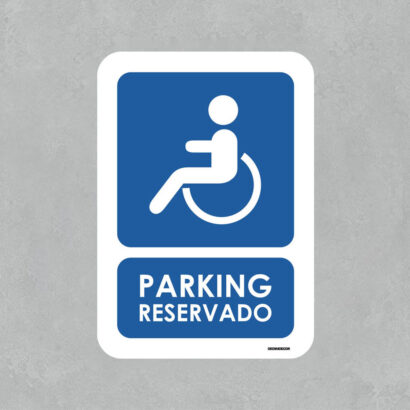 Señal de Parking para minusválidos