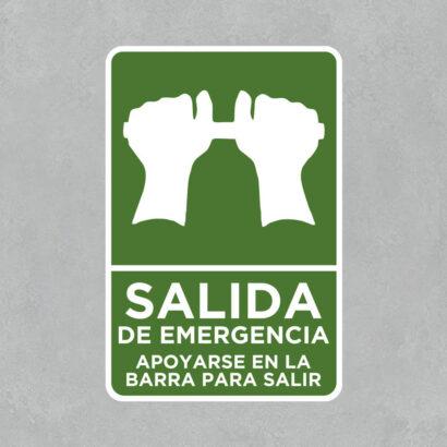 Señal Salida de Emergencia Barra