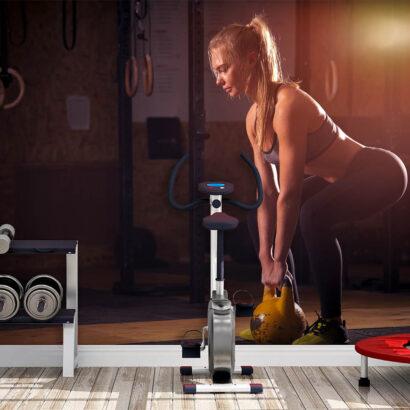 Fotomural Vinilo Chica Fitness Gym