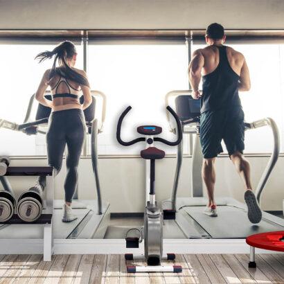 Fotomural Vinilo Chica y Chico Cardio Gym