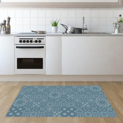 Alfombra PVC Geometría Azul