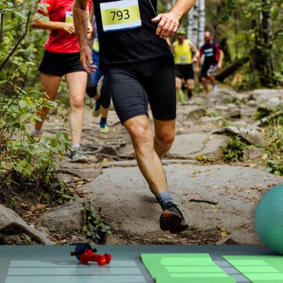 Fotomural Vinilo Running Carrera por el Monte
