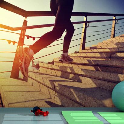 Fotomural Vinilo Running Escaleras al Mar