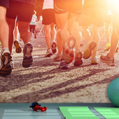 Fotomural Vinilo Running Maratón en la Ciudad