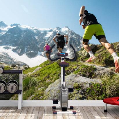 Fotomural Vinilo Running Montaña