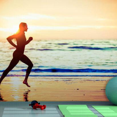 Fotomural Vinilo Running Orilla del Mar
