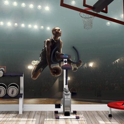 Fotomural Baloncesto Jugador a Canasta