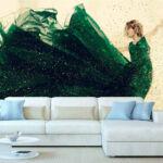 Fotomural-Vestido-Verde-Mujer