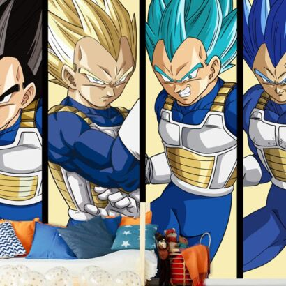 Fotomural Dragon Ball Transformaciones Vegeta