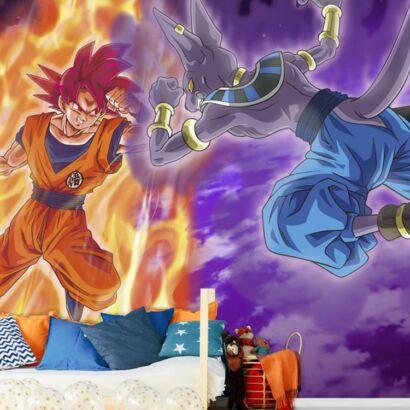 Fotomural Dragon Ball Goku vs Beerus