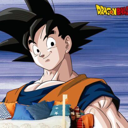 Fotomural Vinilo de Pared Dragon Ball Z Goku montaje