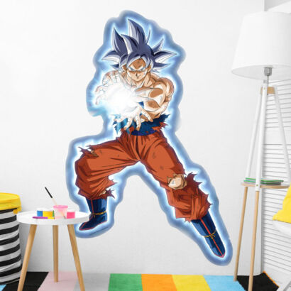 Pegatina pared Dragon Ball Super Goku Onda Vital montaje