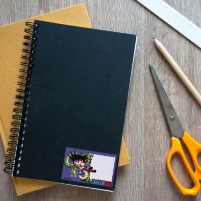 Etiquetas Escolares de Vinilo Dragon Ball Classic montaje