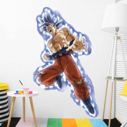 Pegatina de pared Dragon Ball Goku Ultra Instinto montaje