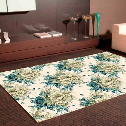 Alfombra PVC Clásico Estampado Floral