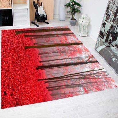 Alfombra PVC Bosque Rojo