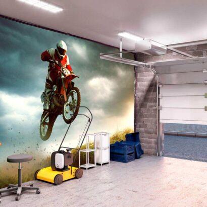 Papel Pintado Salto Motocross