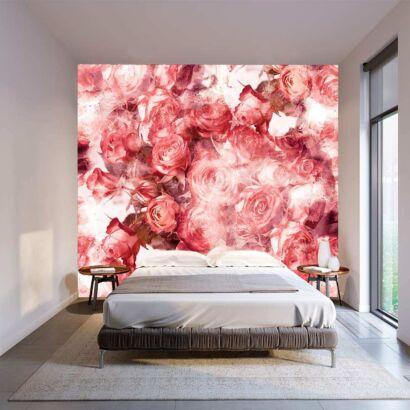 Fotomural Vinilo Floral Rosas Rojas