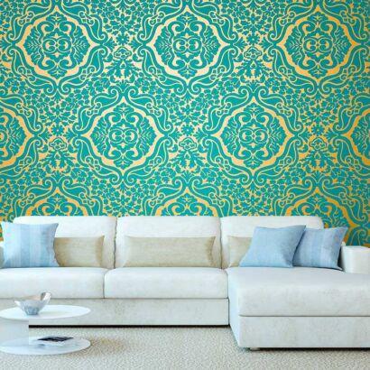 Fotomural Papel Pintado Elegante Floral Verde