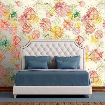 Fotomural Vinilo Zen Azulejo Multicolor