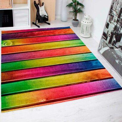 Alfombra PVC Madera Multicolor