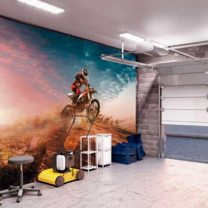 Papel Pintado Motocross Atardecer