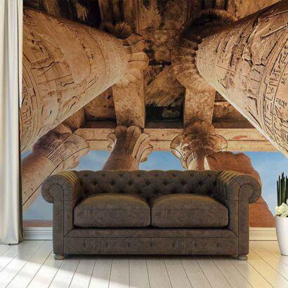 Papel Pintado Columnas Egipcias