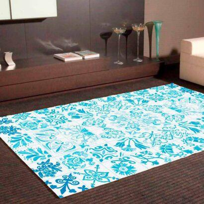 Alfombra PVC Mosaicos Modernos Azules