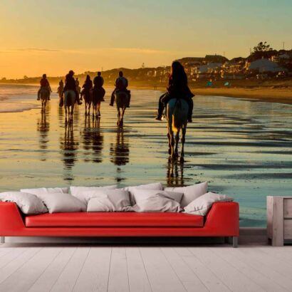 Papel Pintado Hípica Playa