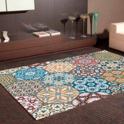Alfombra PVC Mosaico Hexagonal Ornamental