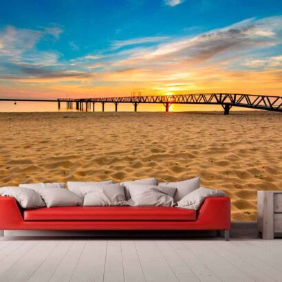 Papel Pintado Playa Muelle