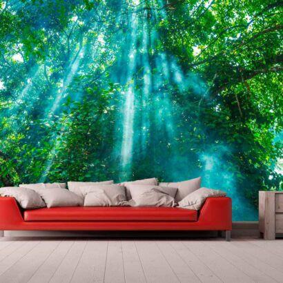 Papel Pintado Árboles Iluminados