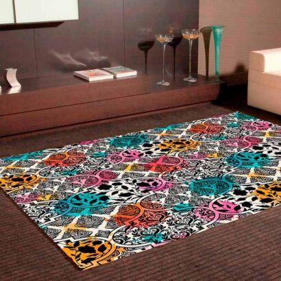 Alfombra PVC Estampado Moderno Multicolor
