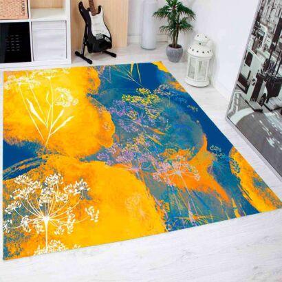 Alfombra PVC Flores Abstractas De Color