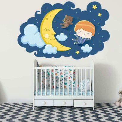 Vinilo Infantil Sueños Noche Estrellada