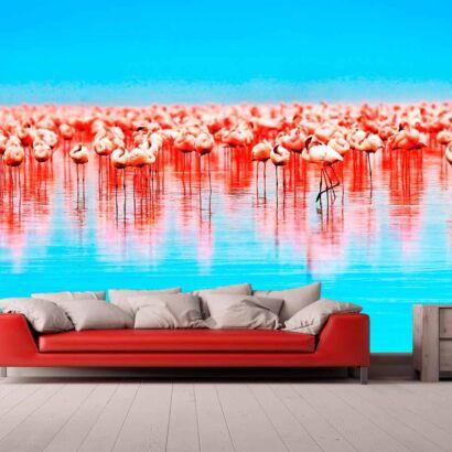 Papel Pintado Flamencos Rosados