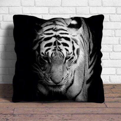 Cojín Tigre Blanco y Negro