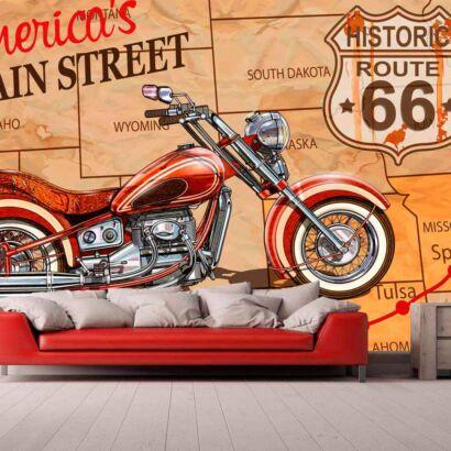 Papel Pintado Moto Americana