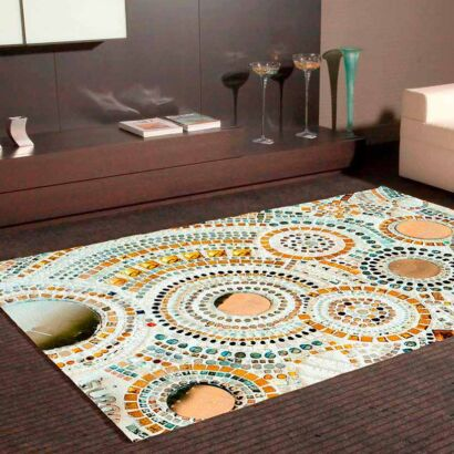 Alfombra PVC Mosaico Circular
