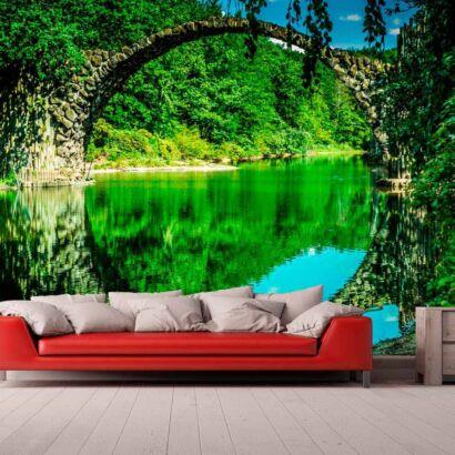 Papel Pintado Puente Reflejado