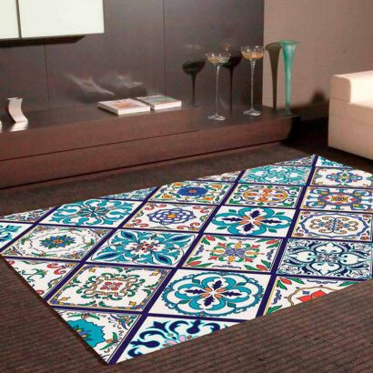 Alfombra PVC Mosaico Tipo Azulejo