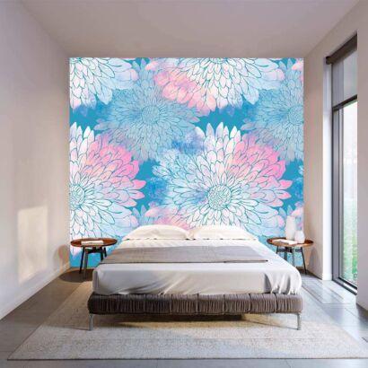 Fotomural Vinilo Floral Petalos Colores