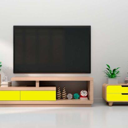 Vinilo Decorativo Mueble Amarillo