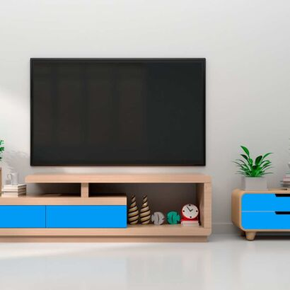 Vinilo Decorativo Mueble Azul