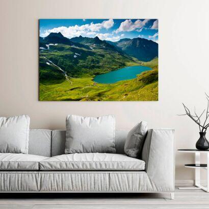 Cuadro Lago Montañas Verdes