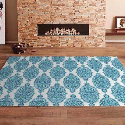 Alfombra PVC Mandala Azul