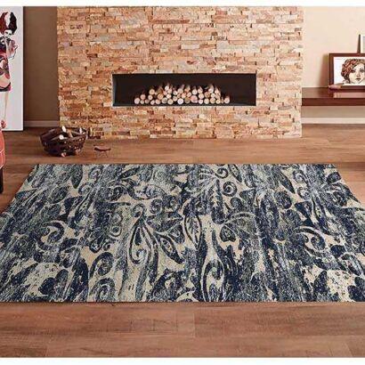 Alfombra PVC Abstracto Azul