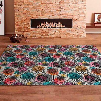 Alfombra PVC Mosaico Colorido Hexagonal