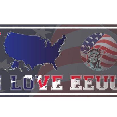 Matrícula I love EEUU