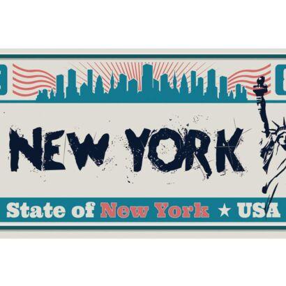 Matrícula Decorativa New York